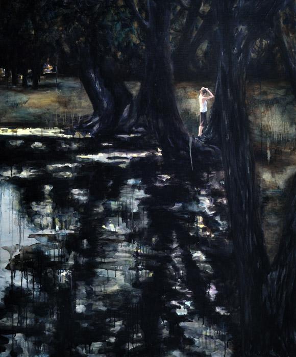 Sudden Haste, 2015, 120 x 100 cm, Oil and acrylic on canvas