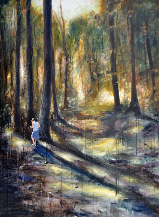 The Misstep, 2015,150 x 110 cm, Oil and acrylic on canvas