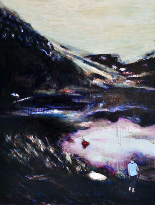 Bevor wir gehen, 2016, 105 x 80, Oil and acrylic on canvas