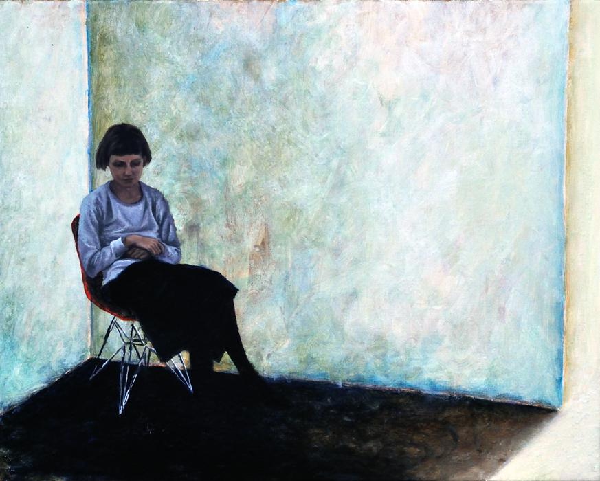 Das Ziehen in den Gliedern 1, 2016, 40 x 50, Oil and acrylic on canvas