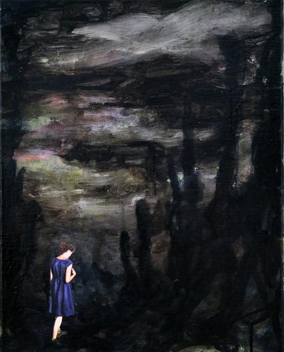 Bayou fever, 2016, 50 x 40, Oil and acrylic on canvas