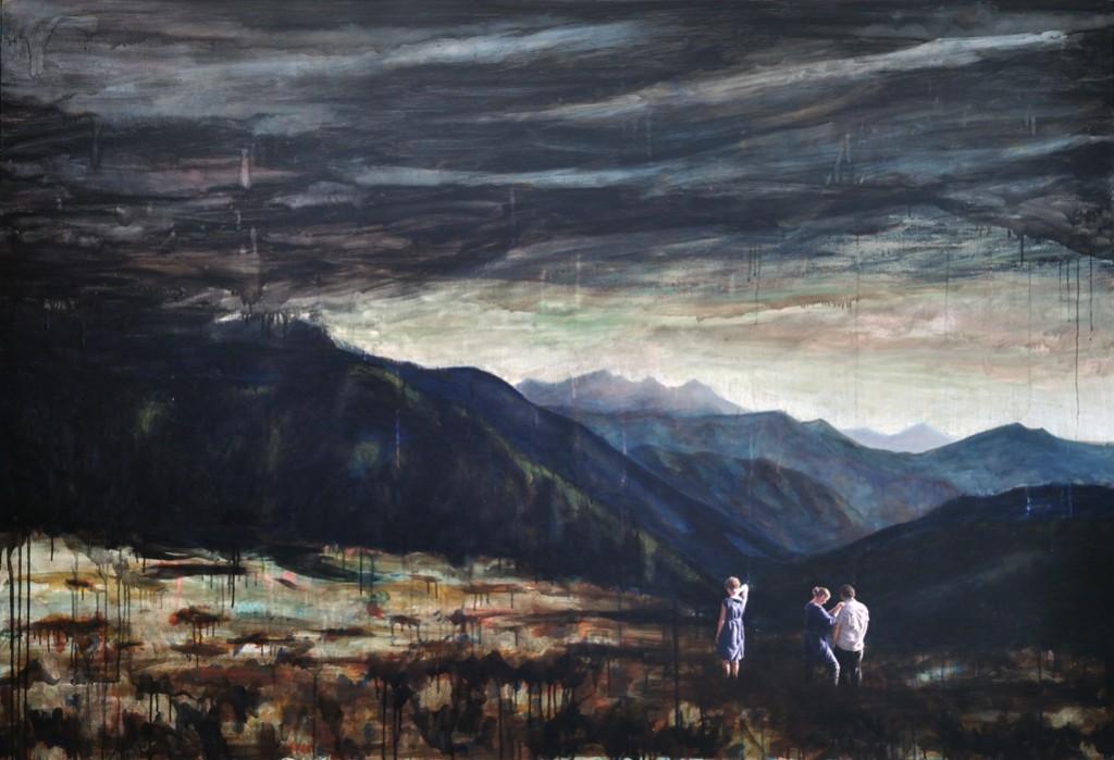 Der Jahrestag, 2016, 130 x 190, Oil and acrylic on canvas
