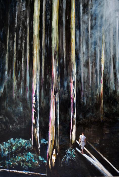 Als wäre es versehentlich, 2016, 190 x 130, Oil and acrylic on canvas