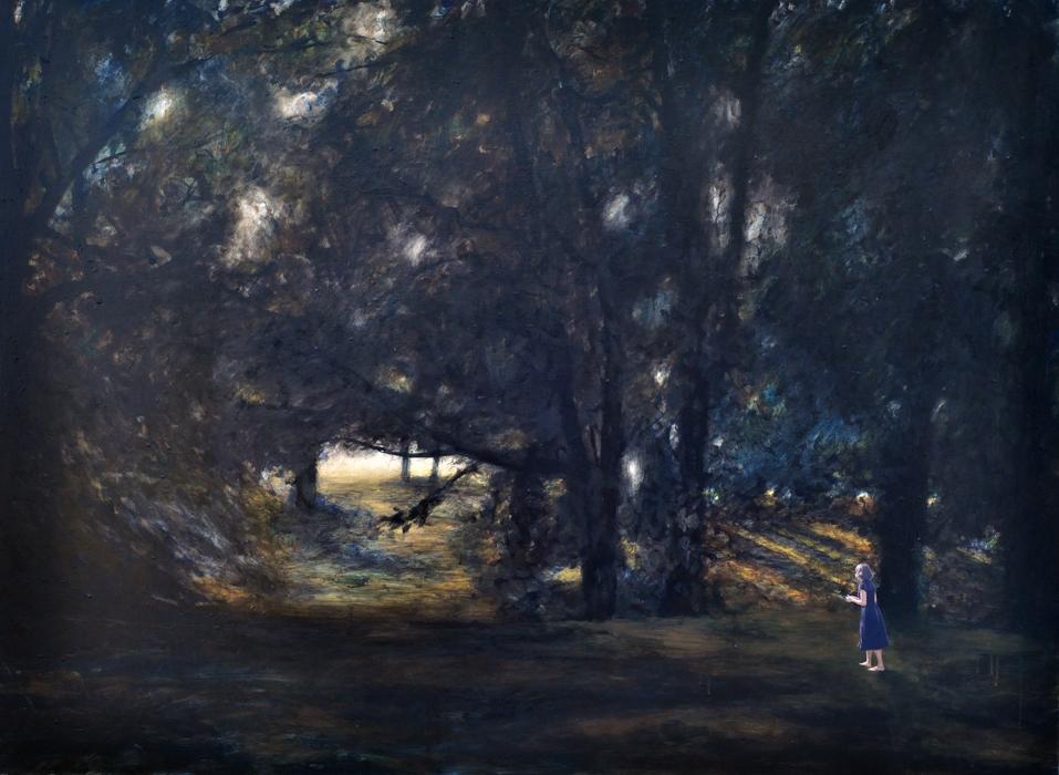 Tragen Sie das weiter, 2016, 110 x 150, Oil and acrylic on canvas