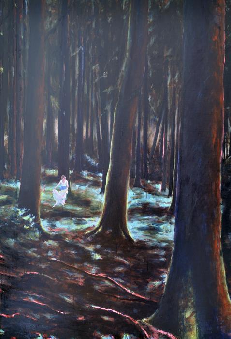 Die Feier, 2017, 190 x 130, Oil and acrylic on canvas